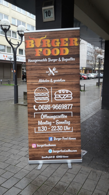 Burger Food, Hanau, Rollup